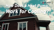 how does a heat pump work for cooling? video kearney hvac