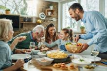 indoor family dinner with quality air