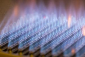 natural gas burning